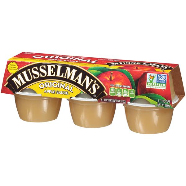 Musselman's Original Apple Sauce 6-4 oz Cups