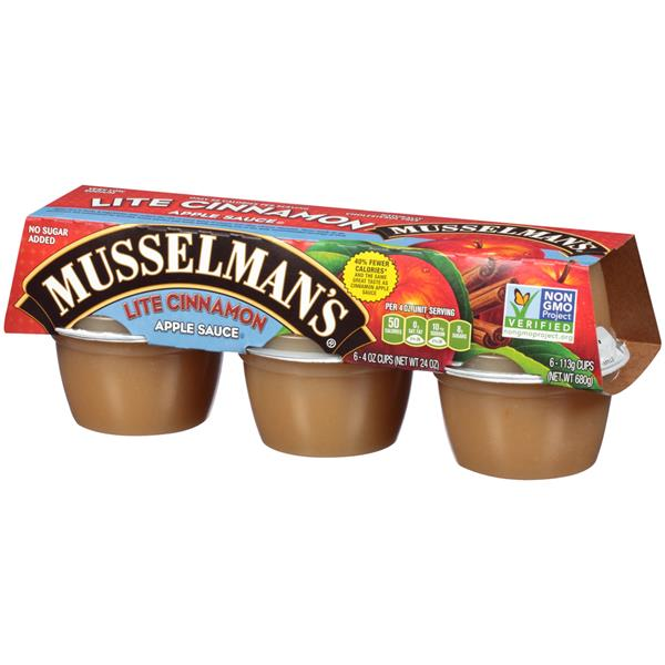 Musselman's Lite Cinnamon Apple Sauce 6-4 oz Cups