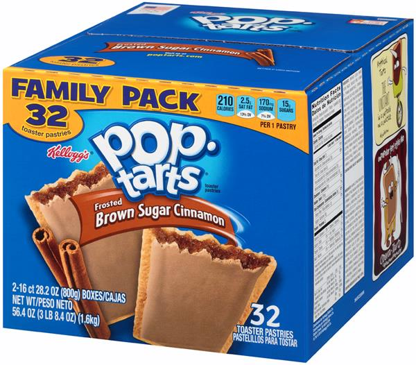Pop-Tarts Frosted Brown Sugar Cinnamon Toaster Pastries 32Ct