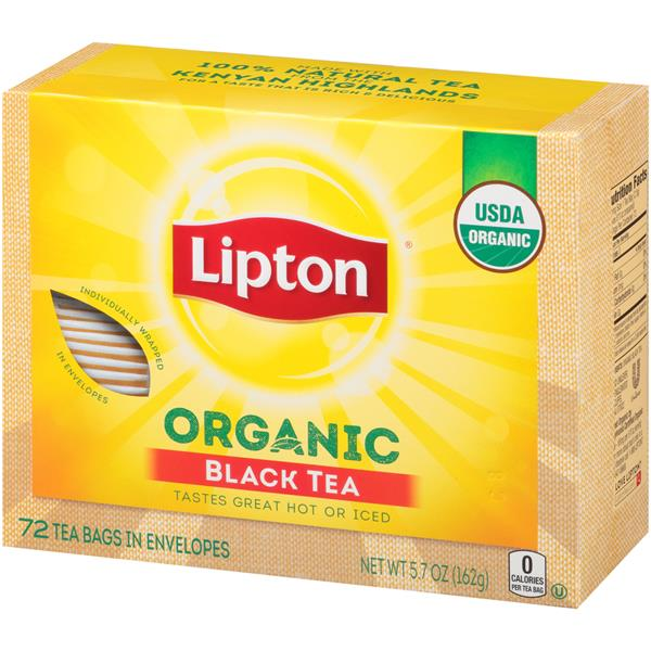 Lipton Organic Black Tea - 72Ct Bags