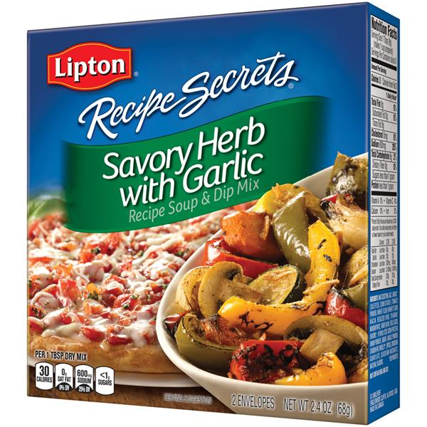 Lipton Recipe Secrets Savory Herb with Garlic Recipe Soup & Dip Mix 2Ct