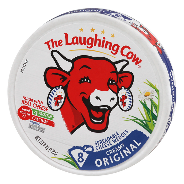 The Laughing Cow Creamy Original Spreadable Cheese 8Ct