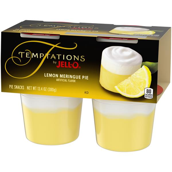 Temptations by Jell-O Lemon Meringue Pie Snacks 4Pk Cups