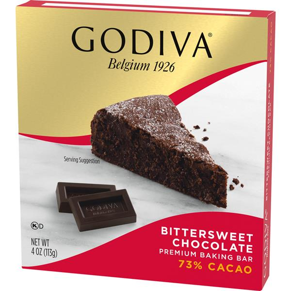 Godiva 73% Cacao Bittersweet Chocolate Premium Baking Bar