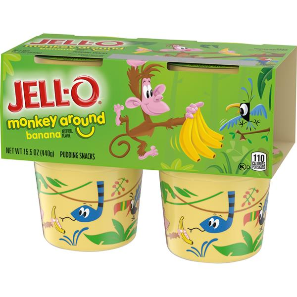 Jell-O Minions the Rise of Gru Banana Pudding Snacks 4Pk