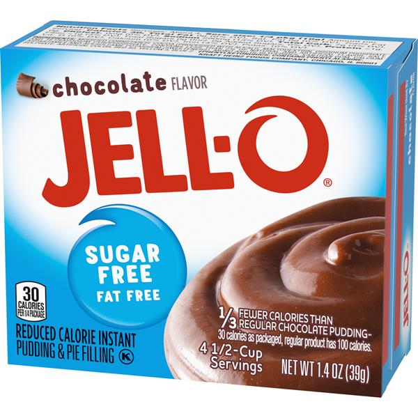Jell-O Sugar Free Fat Free Chocolate Instant Pudding & Pie Filling