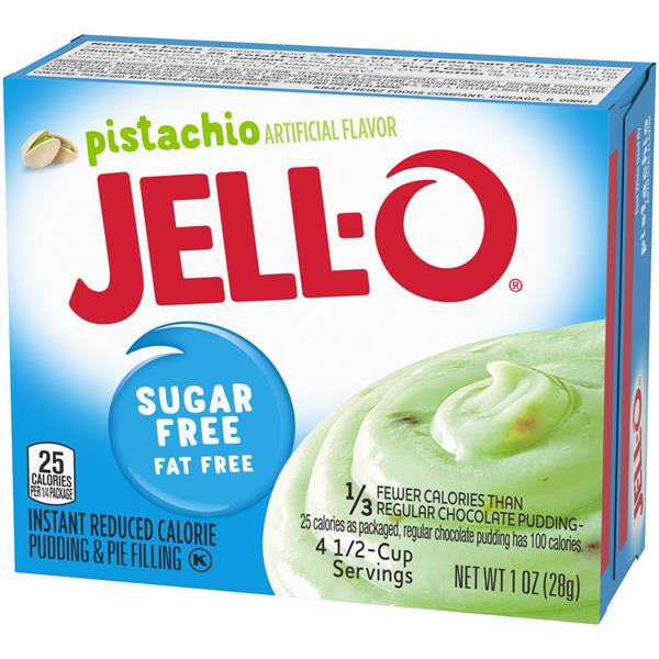 Jell-O Sugar Free Fat Free Pistachio Instant Pudding & Pie Filling