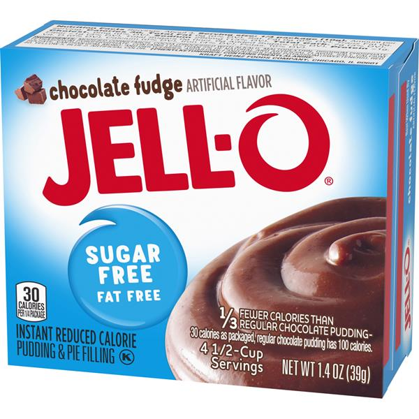 Jell-O Sugar Free Fat Free Chocolate Fudge Instant Pudding & Pie Filling