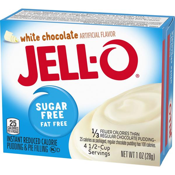 Jell-O Sugar Free Fat Free White Chocolate Instant Pudding & Pie Filling