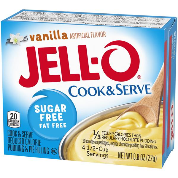 Jell-O Vanilla Sugar Free Fat Free Cook & Serve Pudding & Pie Filling