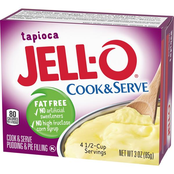 Jell-O Tapioca Fat Free Cook & Serve Pudding & Pie Filling