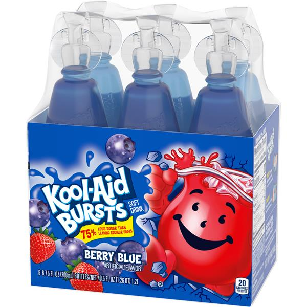 Kool-Aid Bursts Berry Blue 6Pk