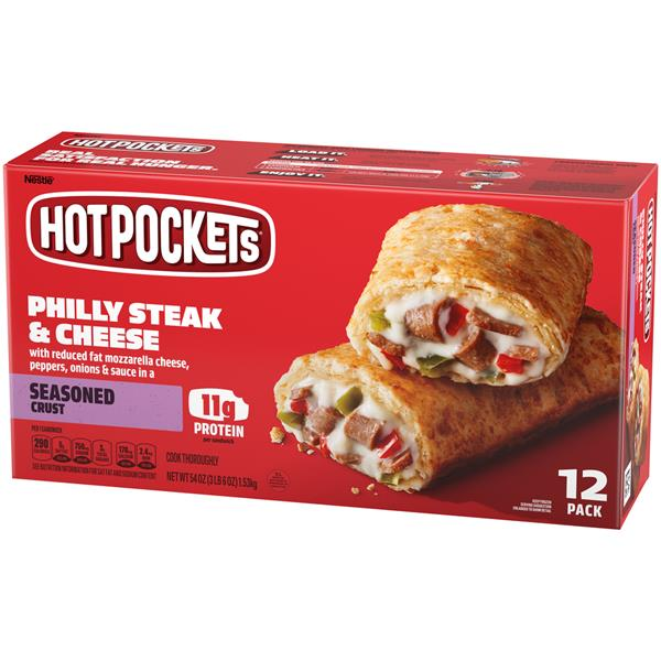 Hot Pockets Frozen Sandwiches Philly Steak & Cheese 12Pk