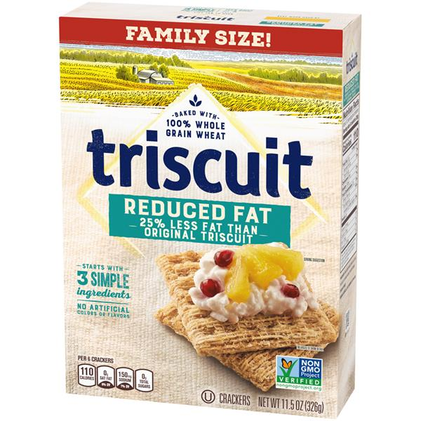 Triscuit Reduced Fat Crackers Family Size
