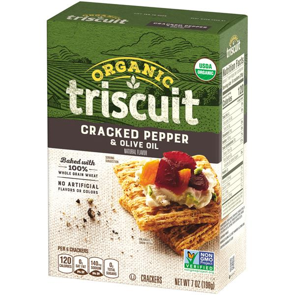 Nabisco Triscuit Organic Cracked Pepper & Olive Oil Crackers