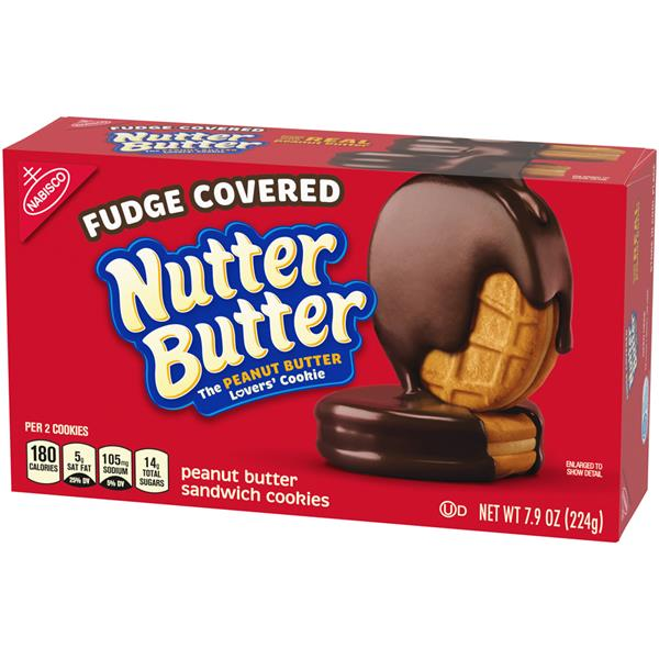 Nabisco Fudge Covered Nutter Butter Peanut Butter Sandwich Cookies
