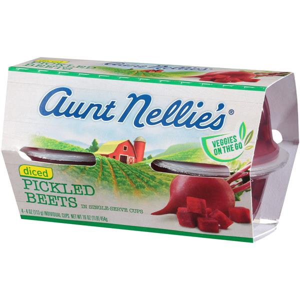 Aunt Nellie's Diced Pickled Beets 4-4oz Cups