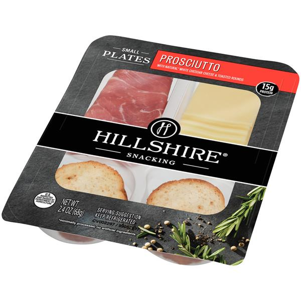 Hillshire Snacking Small Plates, Prosciutto with White Cheddar Cheese, 2.4 oz.