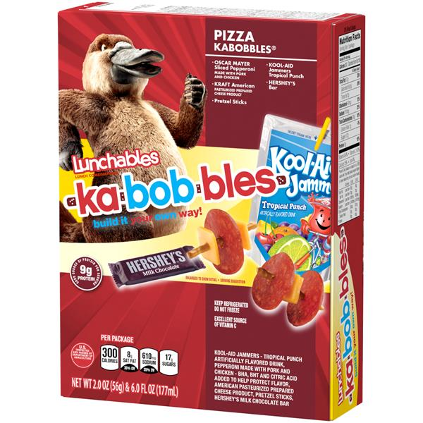 Lunchables Pizza Kabobbles Lunch Combination with Kool-Aid Jammers Tropical Punch