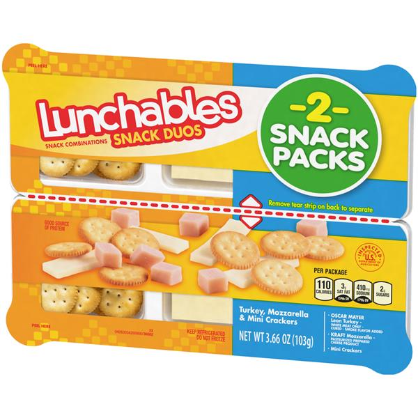 Lunchables Snack Duos Turkey, Mozzarella & Mini Ritz Snack Combination