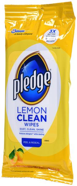 Pledge Lemon Wipes 24 ct