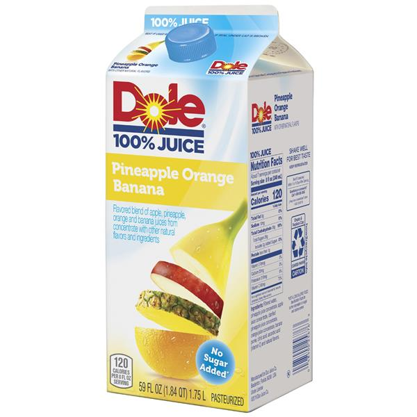 Dole Pineapple Orange Banana 100% Juice