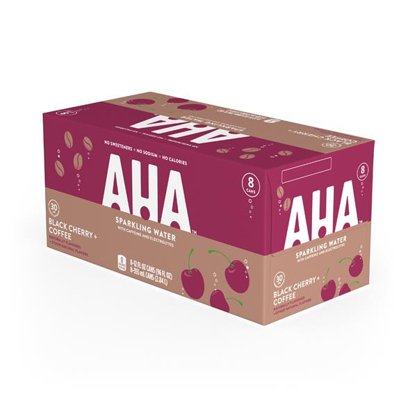 AHA Black Cherry Coffee Sparkling Water 8pk