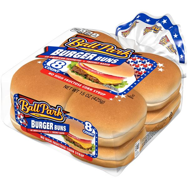 Ball Park White Hamburger Buns 8 Ct