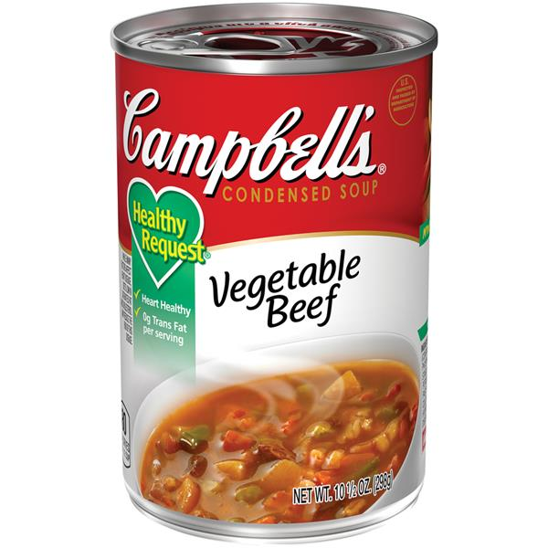 Campbell's Healthy Request Vegetable Beef Condensed Soup
