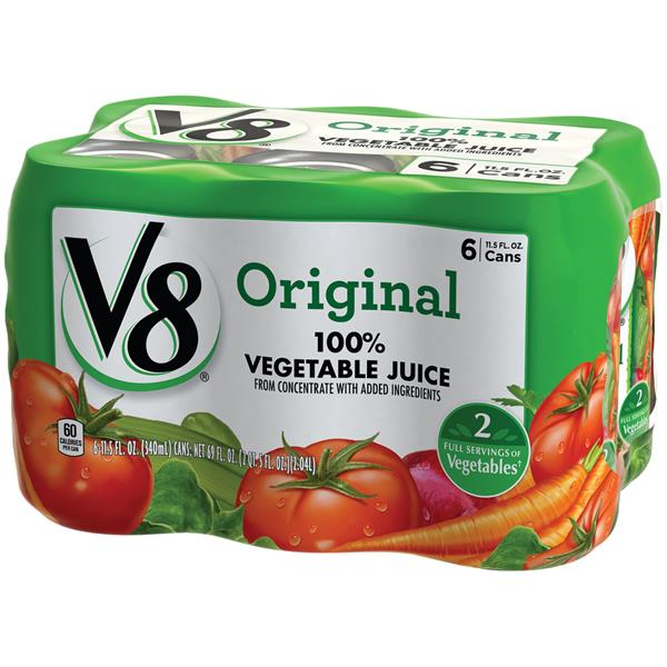 V8 Original 100% Vegetable Juice 6Pk