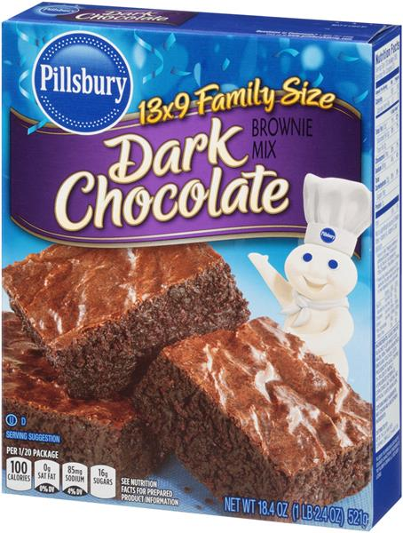 Pillsbury Dark Chocolate Brownie Mix