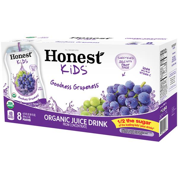 Honest Kids Goodness Grapeness Organic Juice Drink 8Pk