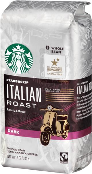 Starbucks Italian Roast Dark Whole Bean Coffee