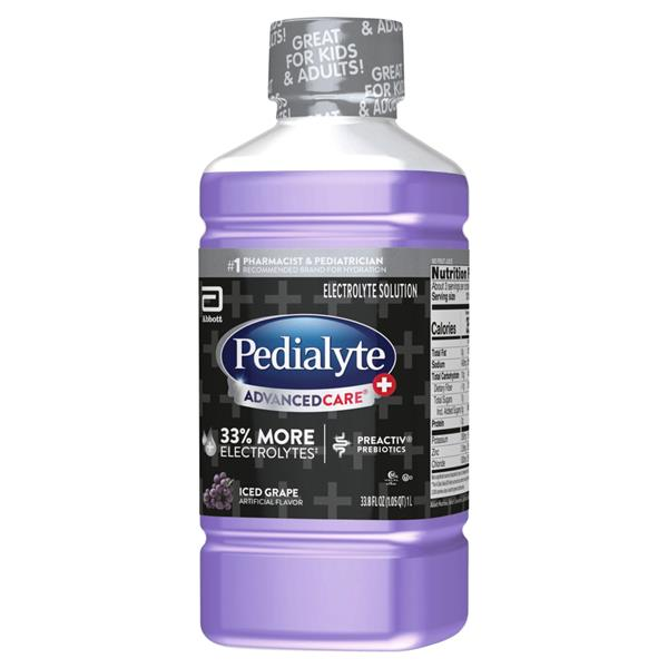 Pedialyte AdvancedCare Plus Electrolyte Solution Iced Grape Ready-to-Drink