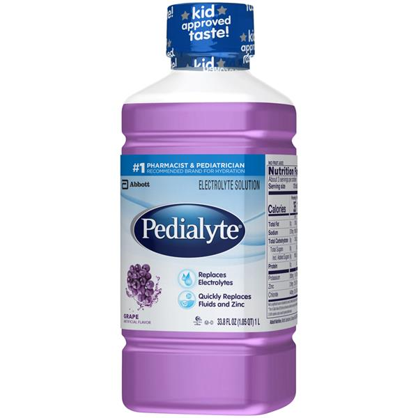 Pedialyte Grape Flavor Electrolyte Solution Ready-to-Drink