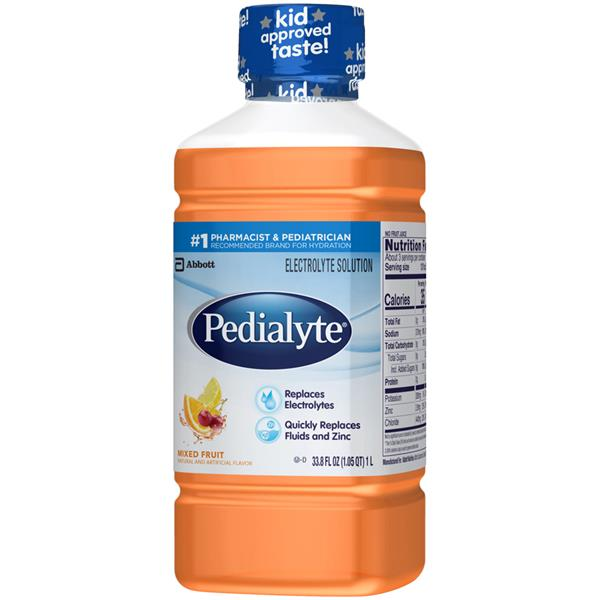 Pedialyte Mixed Fruit Flavor Oral Electrolyte Solution