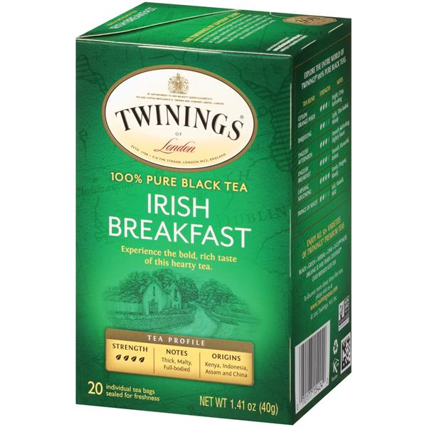 Twinings of London Irish Breakfast Black Tea Bags 20Ct