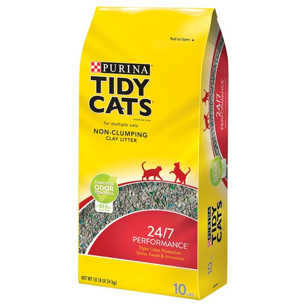 Purina Tidy Cats Non-Clumping Cat Litter 24/7 Performance for Multiple Cats