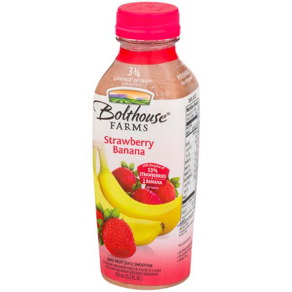 Bolthouse Farms Strawberry Banana 100% Fruit Juice Smoothie + Boosts