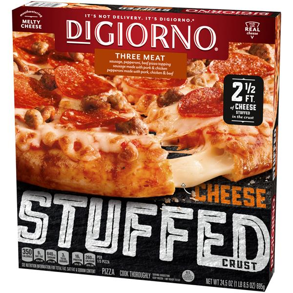 DiGiorno Cheese Stuffed Crust Three Meat Frozen Pizza