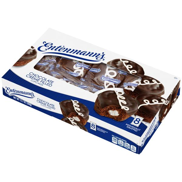 Entenmann's Chocolate Creme Filled Cupcakes 8Ct