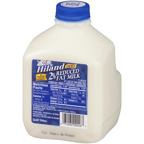 Onwijs Hiland 2% Reduced Fat Milk 1 qt. Jug | Hy-Vee Aisles Online RJ-16