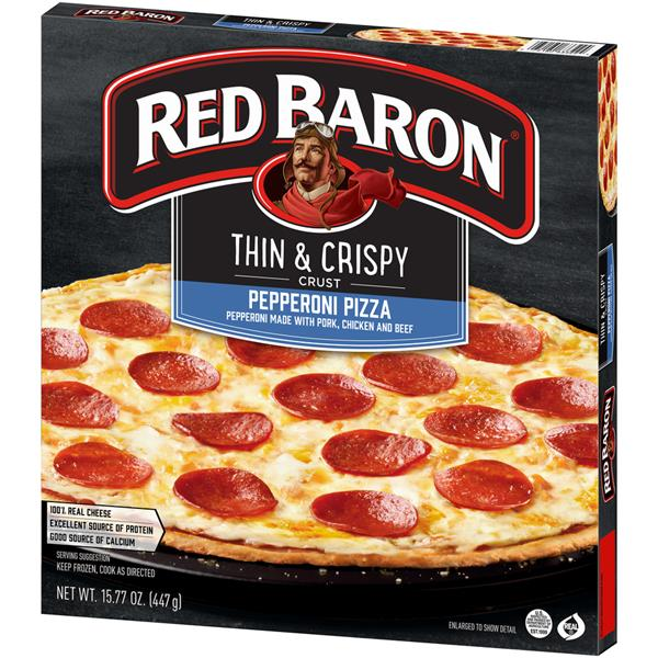 Red Baron Thin & Crispy Crust Pepperoni Pizza
