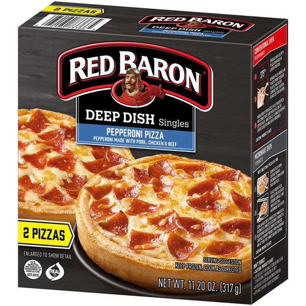 Red Baron Deep Dish Singles Pepperoni Pizzas 2Ct