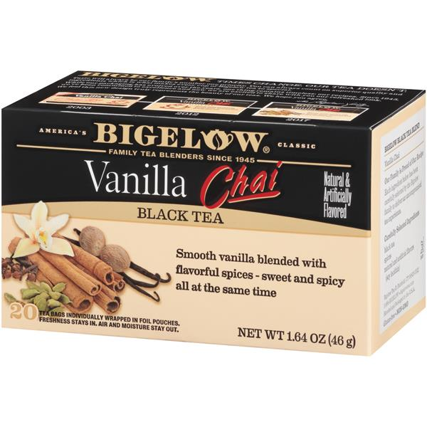 Bigelow Vanilla Chai Black Tea Blend 20 Count