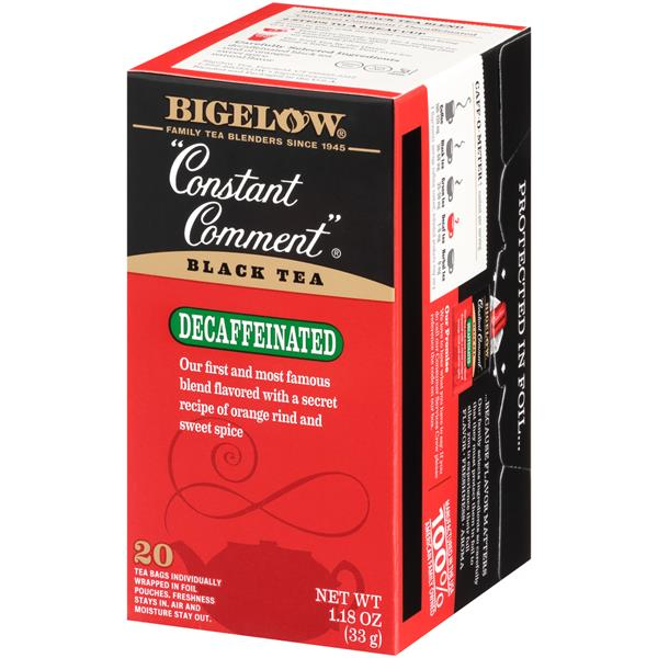 Bigelow Constant Comment Decaffeinated Black Tea 20Ct Bags