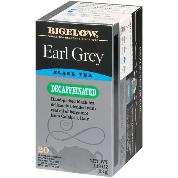 Bigelow Earl Grey Decaffeinated Tea Bags 20Ct