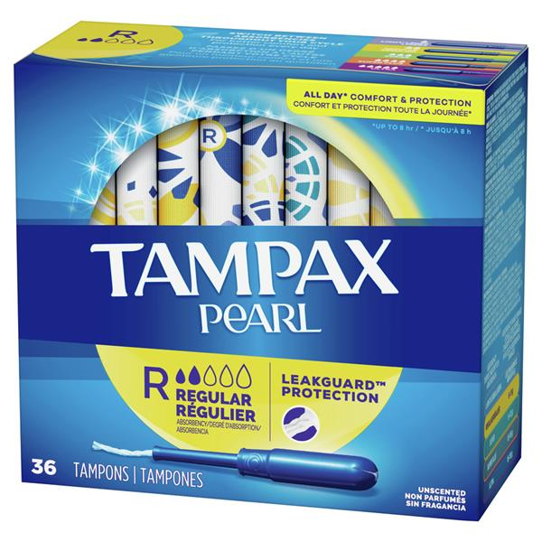 Tampax Pearl Plastic Regular Absorbency Unscented Tampons
