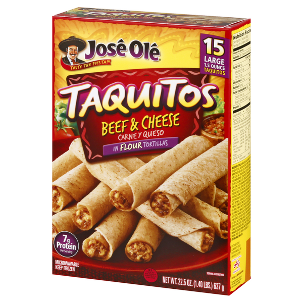 Jose Ole Taquitos Steak & Cheese 15Ct