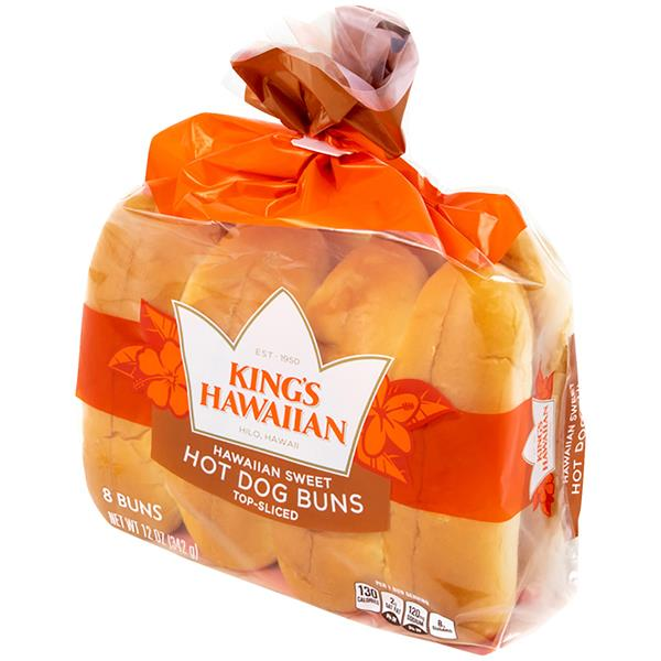 King's Hawaiian Sweet Hot Dog Buns